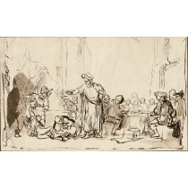 Etching like the drawing of Rembrandt by Bartsch